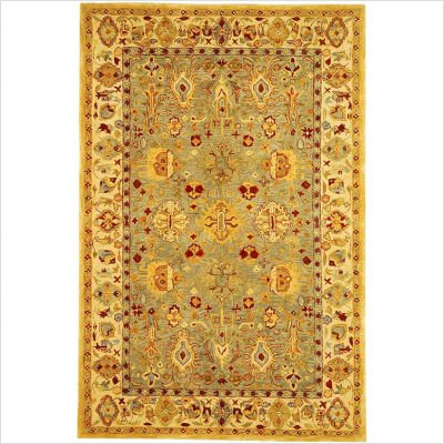 Safavieh AN547A Anatolia Collection 2-1/4-Feet by 12-Feet Handmade Hand-Spun Wool Area Runner, Blue and Ivory