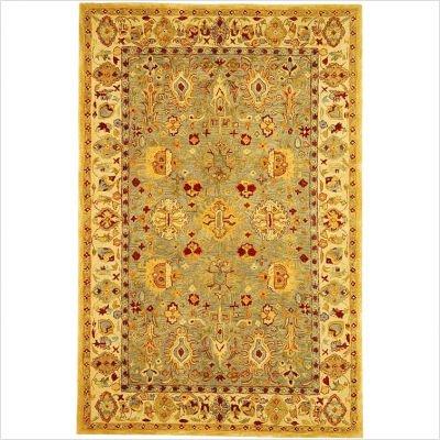 Safavieh AN547A Anatolia Collection 2-1/4-Feet by 8-Feet Handmade Hand-Spun Wool Area Runner, Blue and Ivory