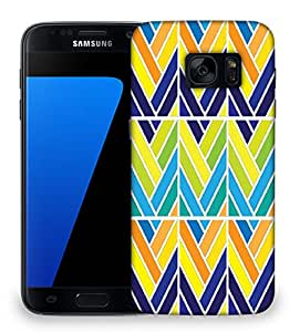 Snoogg mult pattern window 2572 Designer Protective Back Case Cover For Samsung Galaxy S7
