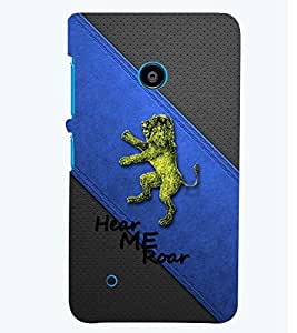 PRINTSWAG LION Designer Back Cover Case for NOKIA LUMIA 530