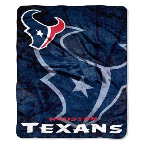 NFL Houston Texans Roll Out Royal Plush Raschel Throw Blanket, 50x60-Inch
