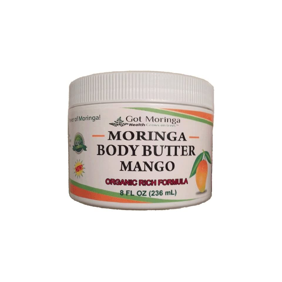 Got Moringa Body Butter Mango   Rich Organic Formula 8 oz