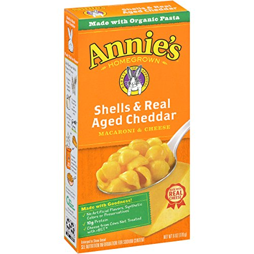 Annie's Shells & Real Aged Cheddar Macaroni & Cheese 6 oz. Box (Pack of 12) (Mac And Cheese Annies compare prices)