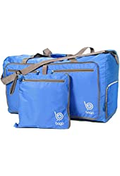 Bago Travel Duffel Bag For Women & Men - Foldable Duffle For Luggage Gym Sports