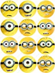 Cakeshop 12 x PRE-CUT Despicable Me M...