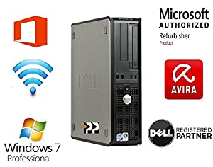 Dell Optiplex 760 Small Form Factor PC - Genuine Microsoft Authorised Refurbisher Windows 7 Home Premium 64BIT - Core 2 Duo 5.12 (2 x 2.66 CPU) 4GB RAM - 160gb HDD - Wireless - Bluetooth - Avira Antivirus + Cloud Backup