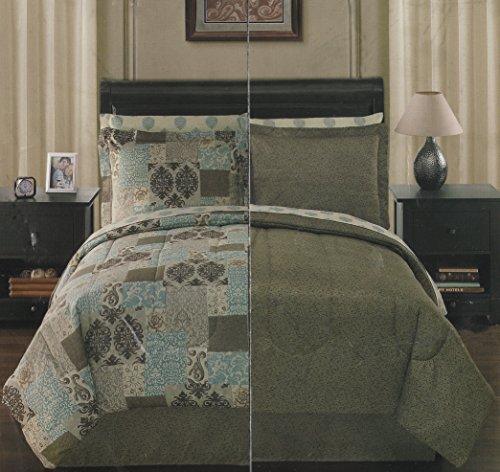 Sunham Montclair Green & Blue Reversible 8-Piece Cal. King Comforter Set front-202398