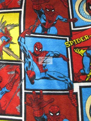 "SPIDER-MAN COMIC STRIP MARVEL COMICS PRINT POLAR FLEECE FABRIC 60"" WIDTH SOLD BY THE YARD 720"