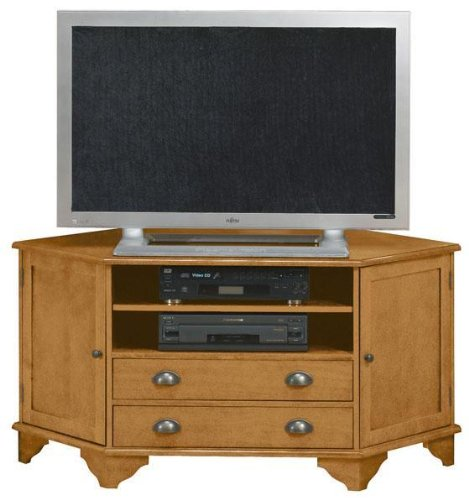 Buy Low Price Burnham Corner Wide screen Tv Stand With Middle Drawers (B0043W40NY)