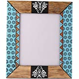 Rang Rage Designer Handpainted Colorful Photo Picture Frame Wall Photoframe Wood Made Home Décor Art Autumn Aztec...