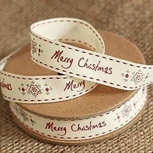 East of India Christmas Ribbon - Christmas and Snowflake
