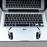 Keypad -Headset on both sides Macbook Symbol Keypad Iphone Apple Ipad Decal Skin Sticker Laptop