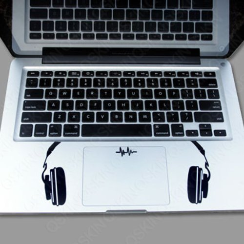 Keypad -Headset on both sides Macbook Symbol Keypad Iphone Apple Ipad Decal Skin Sticker Laptop