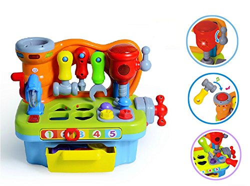 Little Engineer Multifunctional Musical Learning Tool Workbench for Kids