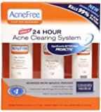 AcneFree Clear Skin System, 3-Step Kit (Purifying Cleanser, Renewing Toner, Repair Lotion)