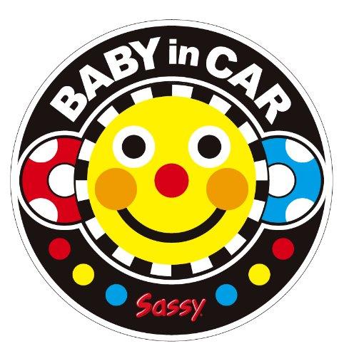 Sassy ベビーインカーステッカー スマイリーフェイス NZSA100701