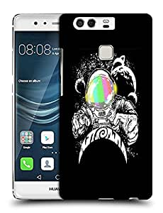 Snoogg Astronaut Designer Protective Back Case Cover For HUAWEI HONOR P9