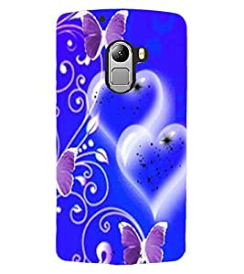 ColourCraft Heart and Butterfly Design Back Case Cover for LENOVO A7010