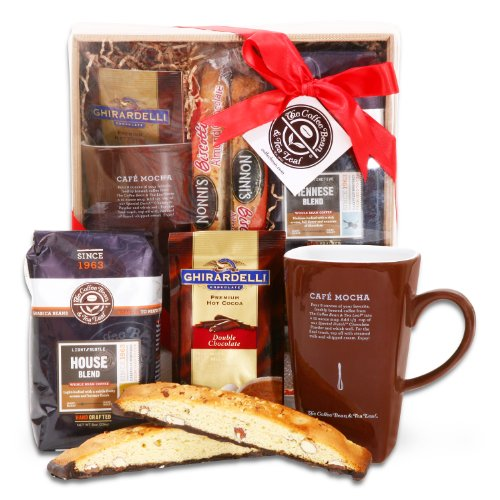 Alder Creek Gifts Coffee Bean & Tea Leaf Holiday Delights Gift Basket, 2 Pound