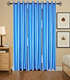 Gaurav Curtains 3 Piece Polyester Long Door Curtain - 9 ft, Multicolor