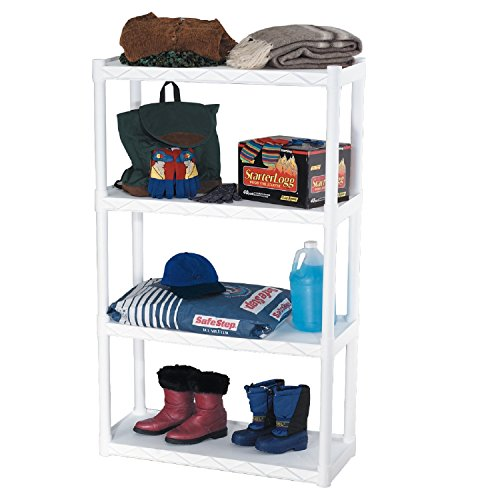 Plano Molding 904 Four-Shelf Utility Shelving, White