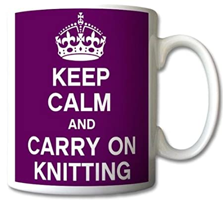 Keep-Calm-And-Carry-On-Knitting-Mug-Cup-Gift-Retro