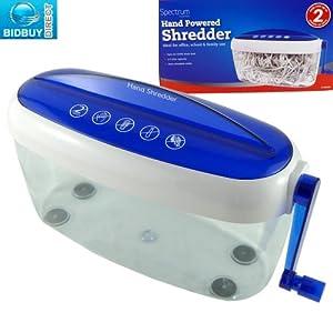New hand powered paper shredder ideal for office school for Best home office shredder uk