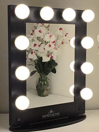 Countertop Vanity Makeup Mirrors with Lights LED Hollywood Glamour Fixture Black eBay