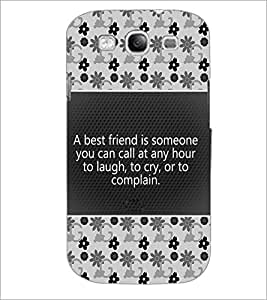 PrintDhaba Quote D-4681 Back Case Cover for SAMSUNG GALAXY S3 (Multi-Coloured)