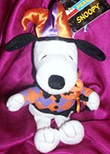 "8"" Plush Snoopy Halloween Doll with Hat Toy"