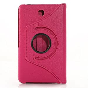 RKA 360°Rotating PU Leather Stand Case For Samsung Galaxy Tab A 9.7 T550 Hot Pink