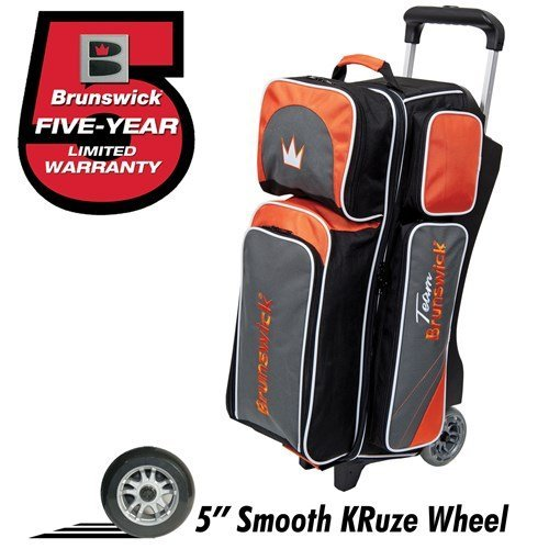 team-brunswick-3-ball-deluxe-roller-bowling-bag-slate-orange-by-brunswick