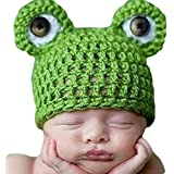 Lovely Baby Girls Boy Newborn Knit Crochet Frog Infant Hat Photo Prop Outfit