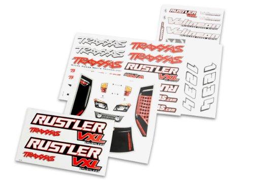 Traxxas 3713R Decal Sheets, Rustler VXL - 1