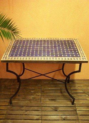 maurischer Tisch Marrakesch blau/ natur 100x60cm günstig