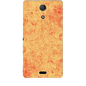 Skin4gadgets Royal English Pastel Colors in Grunge Effect, Color - Golden Rod Phone Skin for XPERIA ZR (M36H)