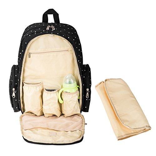 Imyth Large Capacity Baby Diaper Backpack Bag Fit Stroller ...