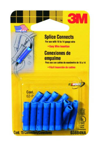 3M Blue Splice Connectors For 16-14 Gauge Wire, 15-Pack