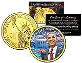 BARACK OBAMA * 44th President * Presidential $1 Dollar U.S. Coin 24K Gold Plated