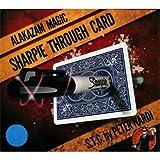 Sharpie Through Card (DVD and Gimmick) Blue by Alakazam Magic - DVD