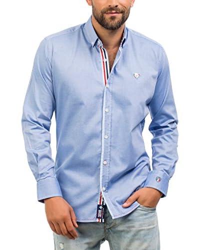 Signore Dei Mari Camisa Hombre Carlson Azul