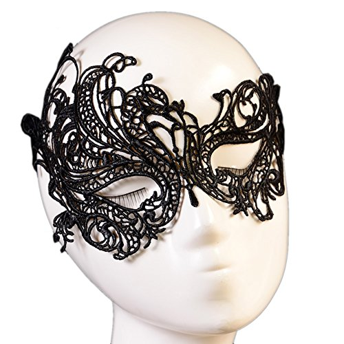 BeOne®Sexy Black Lace Eye Venetian Mask Ball Halloween Party Fancy Dress Costume