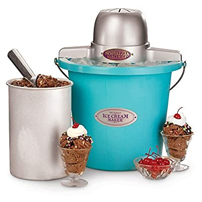 Nostalgia Electrics ICMP-400BLUE 4 qt. Electric Ice Cream Maker from Englewood Marketing Group Inc