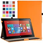 MoKo Nokia Lumia 2520 Case - Slim-Fit Multi-angle Stand Cover for Nokia Lumia 2520 10.1 Inch Microsoft Windows RT 8.1 Tablet, ORANGE