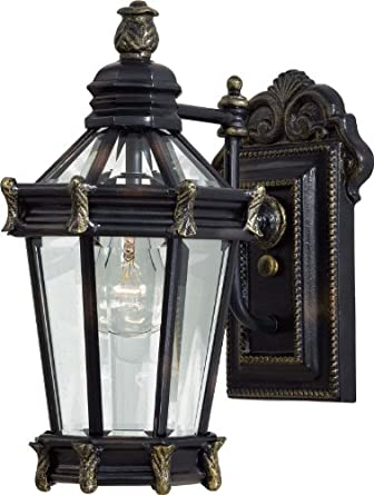 Minka Lavery Outdoor 8937-95, Stratford Hall Outdoor Wall Sconce Lighting, 100 Watts, Heritage ...