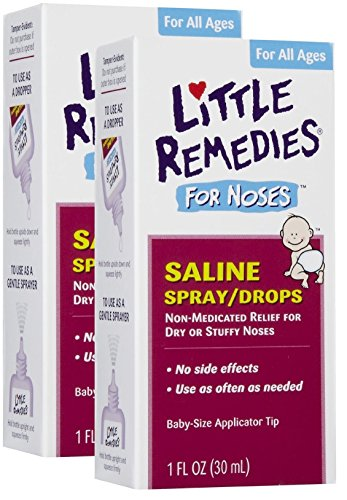 Little Remedies Saline Spray/Drops for Dry for Stuffy Noses, 1-Ounce (30 ml) (Pack of 2) (Saline Spray Drops compare prices)