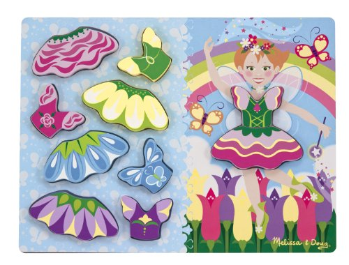 Melissa & Doug Fairy Dress-Up Chunky Puzzle