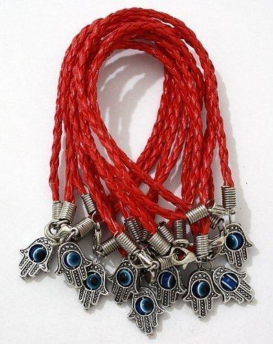 lot-of-10-lucky-hamsa-kabbala-armband-roter-schnur-und-armbander-mit-roter-schnur-und-drehbar-evil-e