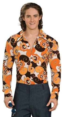 Rubies Disco Party Halloween Costume Mens Orange