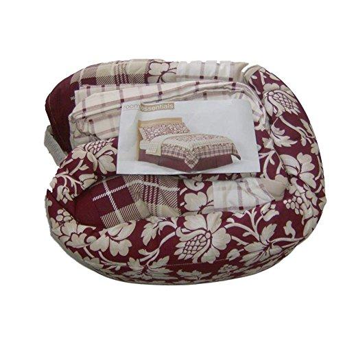 Room Essentials Full Bed Bag Red Plaid Floral Comforter Sheets Shams Bedskirt front-45198